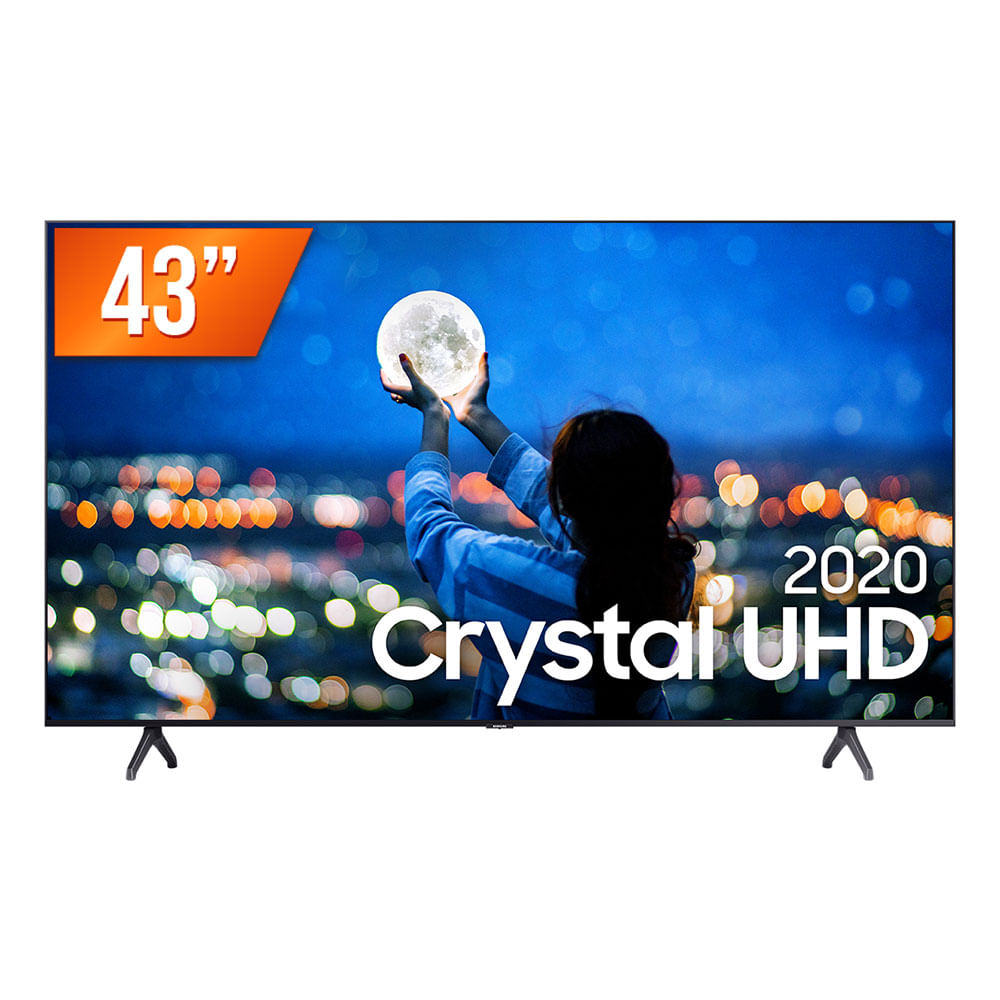"Smart TV LED 43"" UHD 4K Samsung 43TU7000 Crystal UHD 2 HDMI 1 USB Wi-Fi"